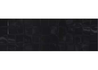 Плитка CERSANIT BLACK GLOSSY STR CUBES стена: фото - магазин Svit Keramiki