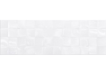 Плитка CERSANIT WHITE GLOSSY STR CUBES стена: фото - магазин Svit Keramiki