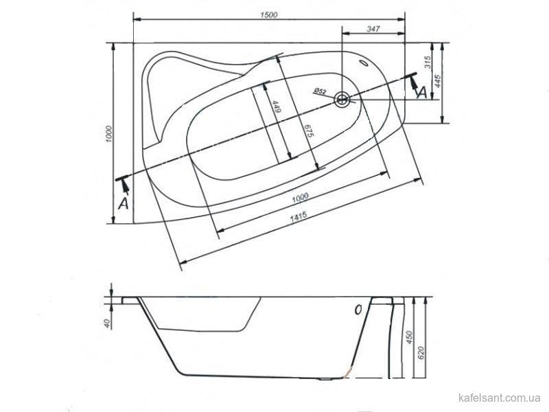 Панель для ванны CERSANIT SICILIA 150/160/170: фото - магазин Svit Keramiki