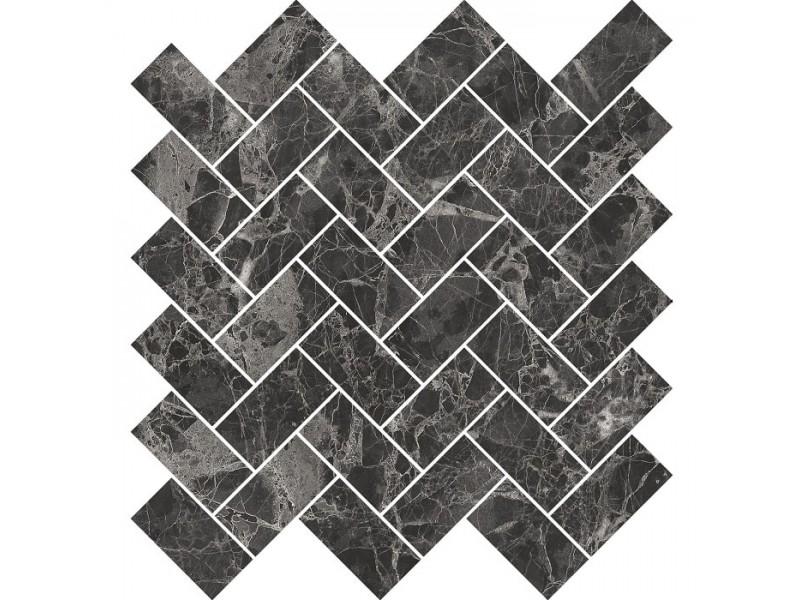 Мозаика OPOCZNO SEPHORA BLACK MOSAIC: фото - магазин Svit Keramiki