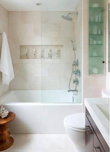 Дизайн маленькой ванной комнаты – идеи с фото
