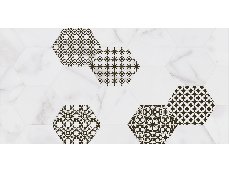 Плитка MARMARA BLANCO INSERTO декор: фото - магазин Svit Keramiki