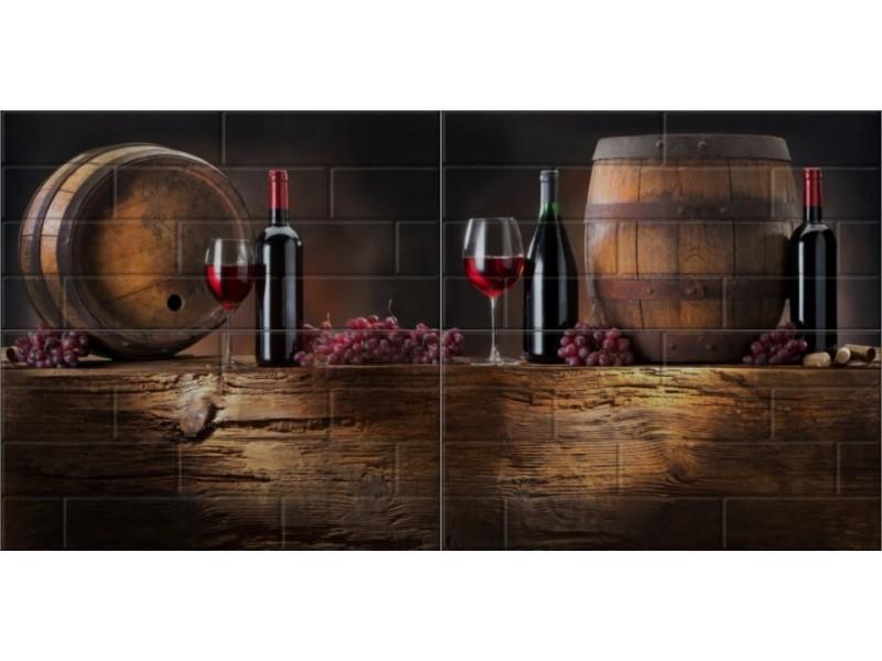 Береза Керамика БРИК вино кремовый декор-панно: фото - магазин Svit Keramiki