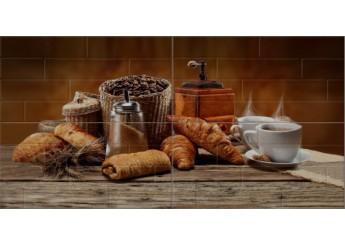 Плитка Береза Керамика БРИК кофе кремовый декор-панно : фото - магазин Svit Keramiki
