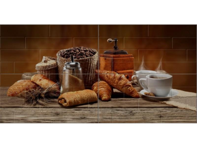 Береза Керамика БРИК кофе кремовый декор-панно: фото - магазин Svit Keramiki