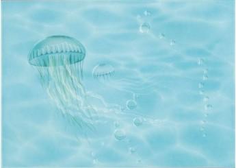 Плитка Береза Керамика ЛАЗУРЬ медуза JELLY FISH декор: фото - магазин Svit Keramiki