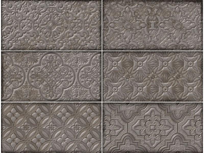 Плитка DANTE DECOR GREY стена: фото - магазин Svit Keramiki
