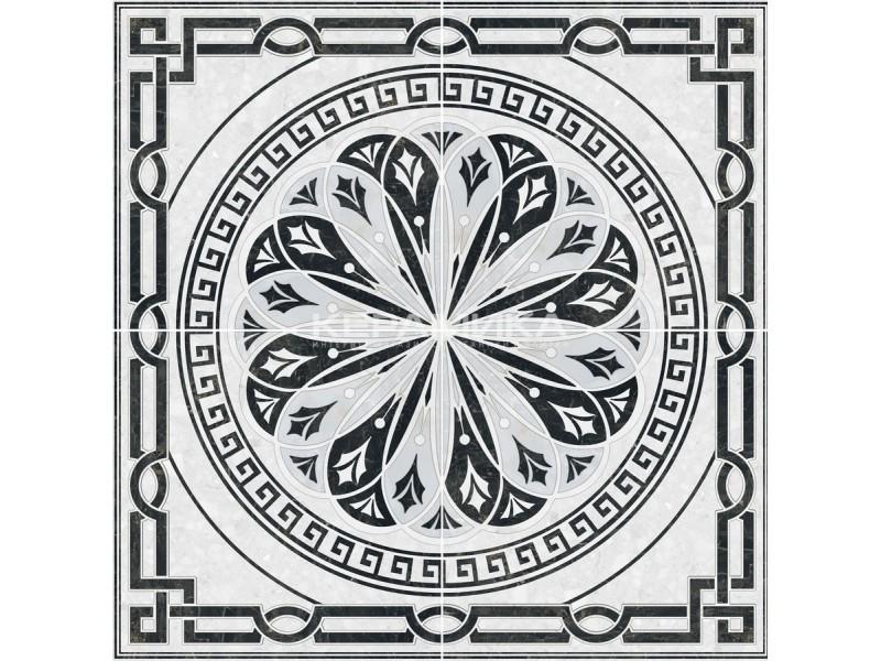 Интеркерама TECHNO (Техно) декор-панно серый 071: фото - магазин Svit Keramiki