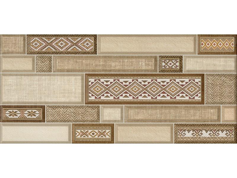 Интеркерама TEXTILE коричневый 031 декор: фото - магазин Svit Keramiki