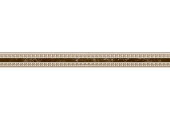 Плитка Интеркерама Бордюр EMPERADOR коричневый узкий 031: фото - магазин Svit Keramiki