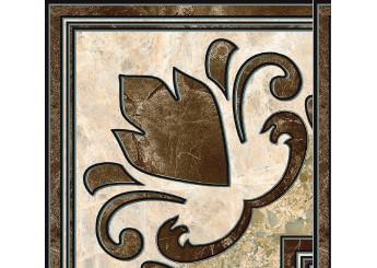 Плитка Интеркерама Декор EMPERADOR коричневый напольный 031: фото - магазин Svit Keramiki