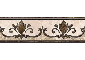 Плитка Интеркерама Бордюр EMPERADOR коричневый напольный 031: фото - магазин Svit Keramiki