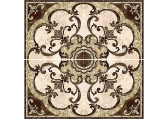 Плитка Интеркерама Декор-панно EMPERADOR коричневый напольный 031: фото - магазин Svit Keramiki