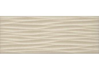 Интеркерама LUNA светло-бежевая рельефная 021/р стена: фото - магазин Svit Keramiki
