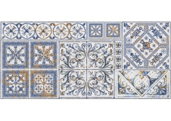 Плитка Интеркерама VIVA серый 071-3 декор: фото - магазин Svit Keramiki