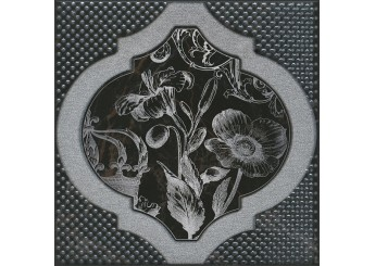 Плитка KERAMA MARAZZI ФРАГОНАР ЧЕРНЫЙ HGD B263 17052 декор: фото - магазин Svit Keramiki
