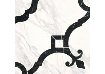 Плитка KERAMA MARAZZI ФРАГОНАР БЕЛЫЙ РОЗОН ID88 декор: фото - магазин Svit Keramiki