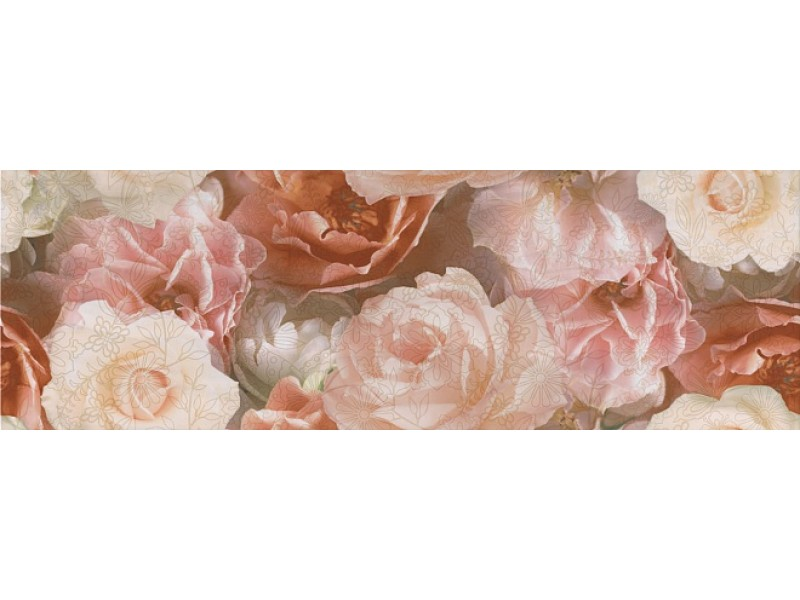 KERAMA MARAZZI  КОНТАРИНИ цветы обрезной декор STG\A590\13032R: фото - магазин Svit Keramiki