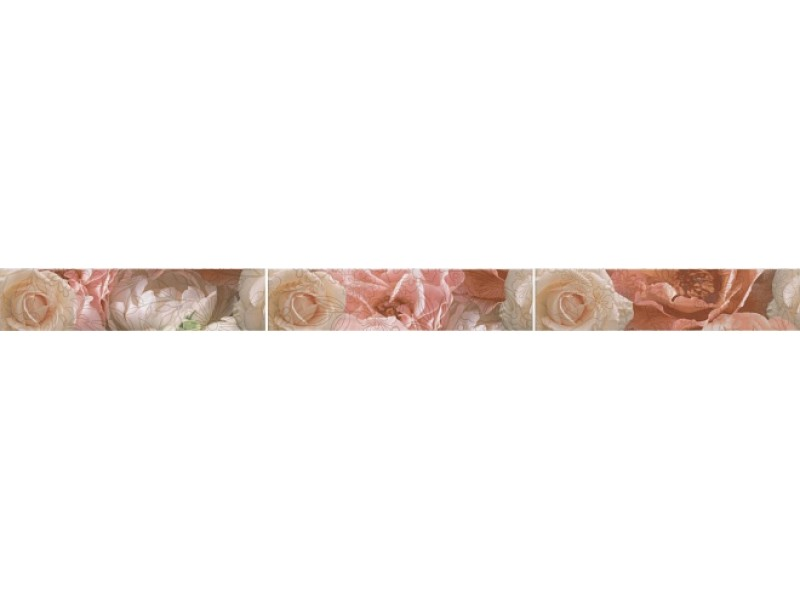 KERAMA MARAZZI  КОНТАРИНИ цветы обрезной бордюр STG\A595\13032R: фото - магазин Svit Keramiki