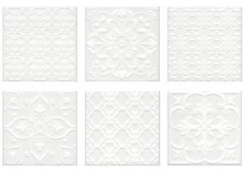 Плитка KERAMA MARAZZI  СУРРЕЙ 5226 белый стена: фото - магазин Svit Keramiki