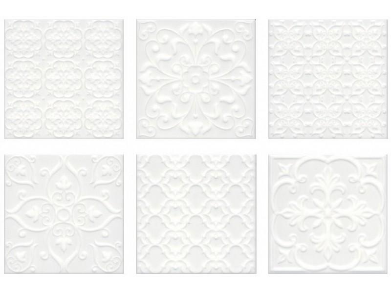 KERAMA MARAZZI  СУРРЕЙ 5226 белый стена: фото - магазин Svit Keramiki