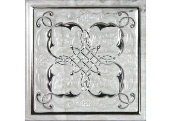 MONOPOLE CERAMICA PETRA ARMONIA SILVER B декор: фото - магазин Svit Keramiki