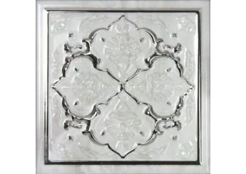 MONOPOLE CERAMICA PETRA ARMONIA SILVER C декор: фото - магазин Svit Keramiki