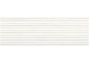Плитка OPOCZNO STRIPES WHITE STRUCTURE стена: фото - магазин Svit Keramiki