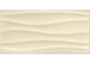 Плитка OPOCZNO BEIGE GLOSSY WAVE STRUCTURE стена: фото - магазин Svit Keramiki