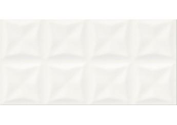 Плитка OPOCZNO ORIGAMI WHITE GLOSSY STRUCTURE стена: фото - магазин Svit Keramiki