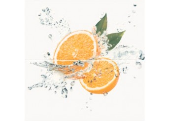 Плитка OPOCZNO WATER SPARKLES INSERTO ORANGE декор2: фото - магазин Svit Keramiki