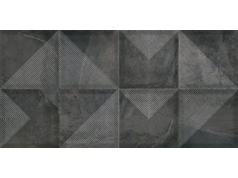 Плитка Cerama Market SLATE NERO DECOR стена: фото - магазин Svit Keramiki