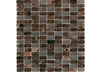 Мозайка MOZAICO DE LUX S-MOS CLHT05 ST+GL DARK PEARL: фото - магазин Svit Keramiki