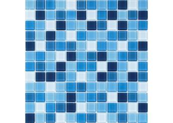 Мозайка MOZAICO DE LUX S-MOS HT B25B23B21B20B19B18 AZURO MIX: фото - магазин Svit Keramiki