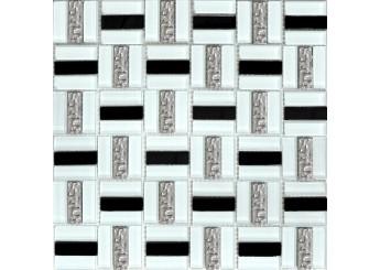 Мозаика Grand Kerama трино черно-белая (1077): фото - магазин Svit Keramiki