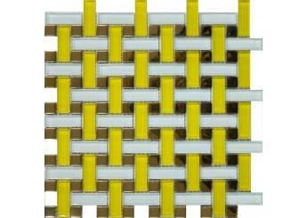 Мозаика Grand Kerama плетенка желтая (1080): фото - магазин Svit Keramiki