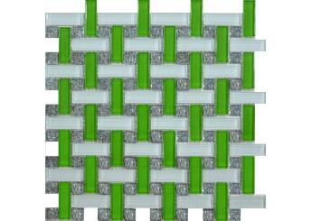 Мозаика Grand Kerama плетенка зеленая (1081): фото - магазин Svit Keramiki