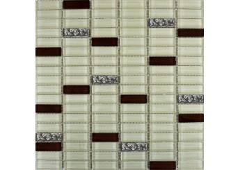 Мозаика Grand Kerama микс охра-коричневый-платина рельефная (1085): фото - магазин Svit Keramiki