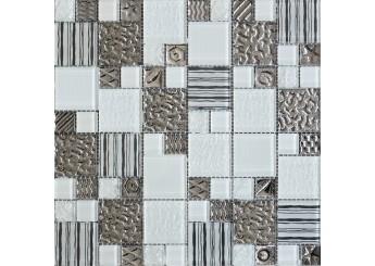 Мозаика Grand Kerama микс полосы белая (2167): фото - магазин Svit Keramiki