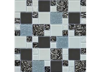 Мозаика Grand Kerama микс орнамент серый (2171): фото - магазин Svit Keramiki