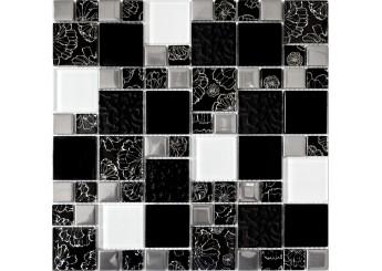 Мозаика Grand Kerama микс цветок чорный (2251): фото - магазин Svit Keramiki