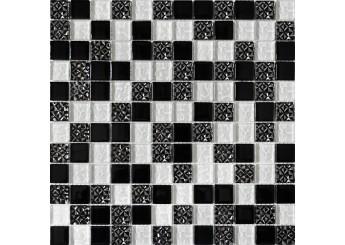 Мозаика Grand Kerama микс чорный ромб (2251): фото - магазин Svit Keramiki