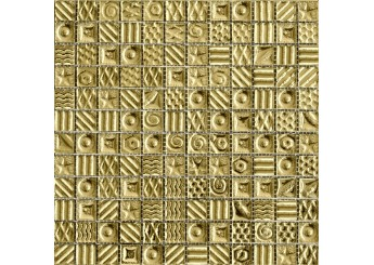 Мозаика Grand Kerama моно золото рисунок (2252): фото - магазин Svit Keramiki