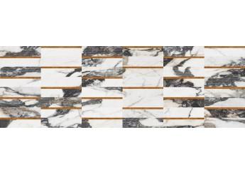 Плитка OPOCZNO CRYSTALLINE INSERTO GLOSSY стена: фото - магазин Svit Keramiki