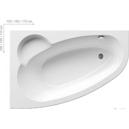 ASYMMETRIC Ванна 150х100