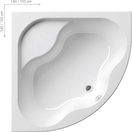 GENTIANA Ванна 150x150: фото - магазин Svit Keramiki