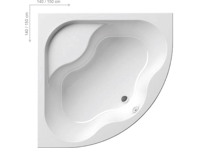 GENTIANA Ванна 140x140: фото - магазин Svit Keramiki