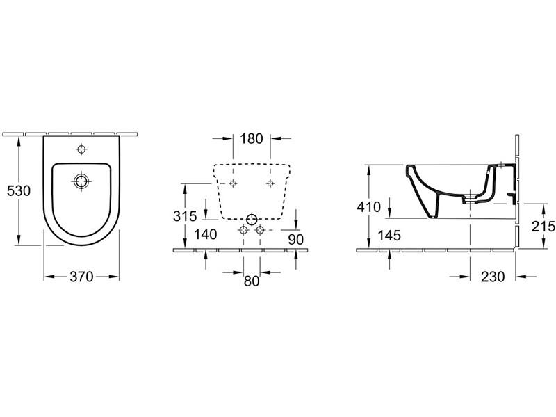 Биде Villeroy&Boch SUBWAY 2.0 подвесное 54000001 : фото - магазин Svit Keramiki